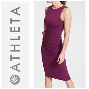 Athleta | Plum Comeback Ruched Midi Tank Dress